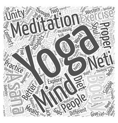 Yoga meditation word cloud concept vector