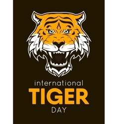 International tiger day poster template vector