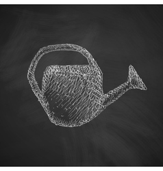 Watering can icon vector