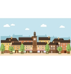 Small town urban landscape vector