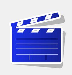 Film clap board cinema sign  new year vector