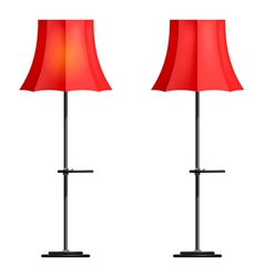 Red floor lamp on a white background vector