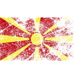 Flag of macedonia with old texture vector