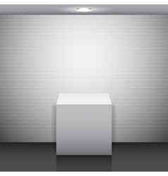 Empty white stand vector