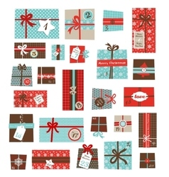 Advent calendarcollection of colorful vector