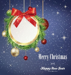 Christmas banner with frame vector