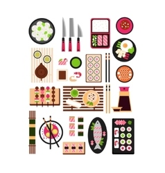 Restaurant asian cuisine flat vector