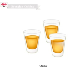 Chacha or grape vodka popular dink in georgia vector