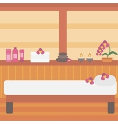 Background of spa center vector