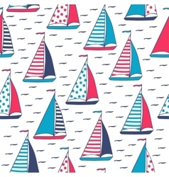 pattern of marine sails vector image