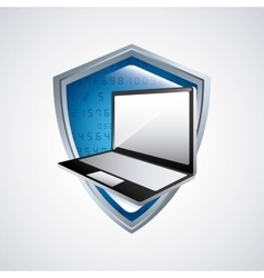 Web hosting and laptop icon technology design vector