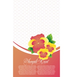 abstract card with flowers vector image vector image