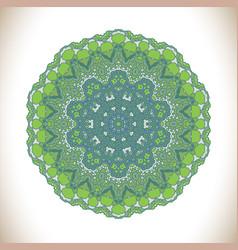 Abstract green mandal vector