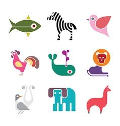 Animal icon set vector