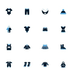 Baby clothes icons set vector image