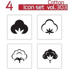 black cotton icons set vector image