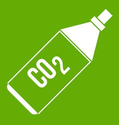 Co2 bottle icon green vector
