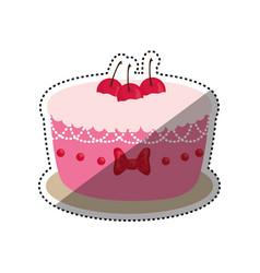 delicious birthday cake vector image vector image