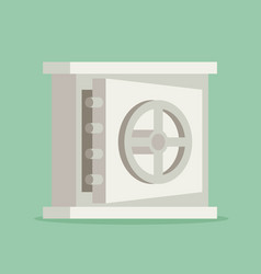 eps10 flat concept safe icon vector image vector image