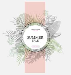 exotic leaf round banner trendy design vector image vector image