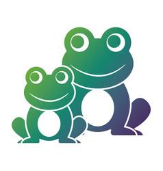 frogs cute animal sitting cartoon vector image vector image