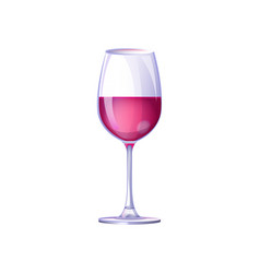 glass filled with drink on vector image vector image