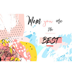 hand drawn abstract creative mothers day vector image