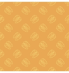 Human Brain Icon Seamless Pattern vector image vector image