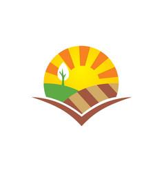 Nature landscape eco logo vector