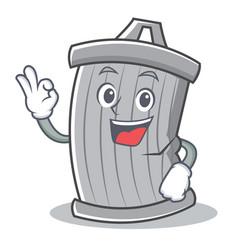 okay trash character cartoon style vector image vector image