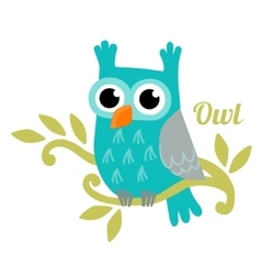 Owl isolated vector
