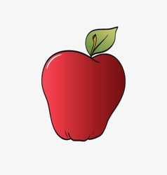 Red apple isolated on a white vector image