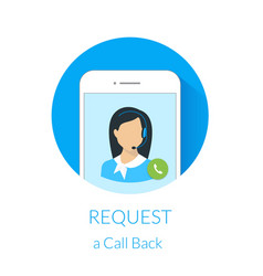 Request a call back vector