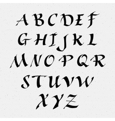 Ruling pen script lettering font handwritten vector image vector image