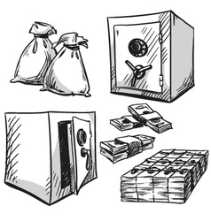 safes drawings vector image