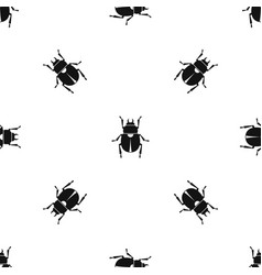 scarab pattern seamless black vector image