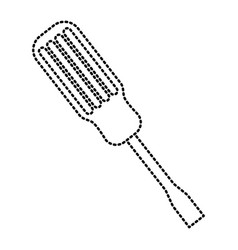 screwdriver tool repair equipment object icon vector image