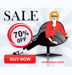 Set of fashion sale banners vector