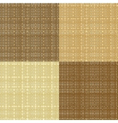 Set of realistic seamless sacking texture vector