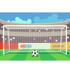 soccer stadium and ball vector image
