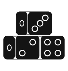 Three dice cubes icon simple style vector