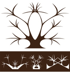 tree decor vector image vector image