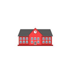 university flat icon school and building vector image