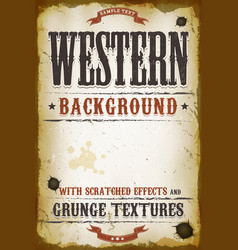 Vintage western background vector