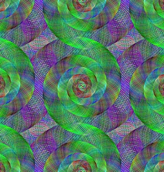 Wired fractal spiral pattern vector