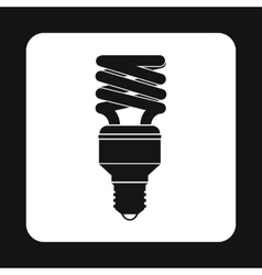 Fluorescent saving light bulb icon simple style vector