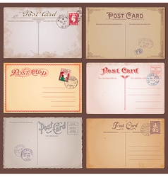 Vintage style postcards vector