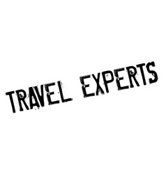 Travel experts rubber stamp vector
