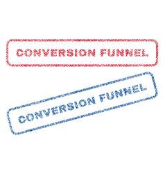 Conversion funnel textile stamps vector