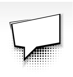 comic empty paper square babble soft shadow vector image